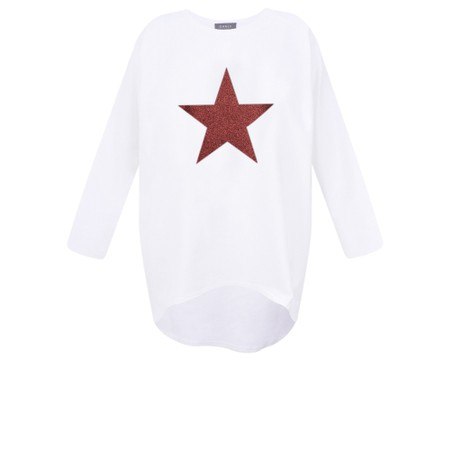 Chalk Gemini Exclusive ! Robyn Star Top - White