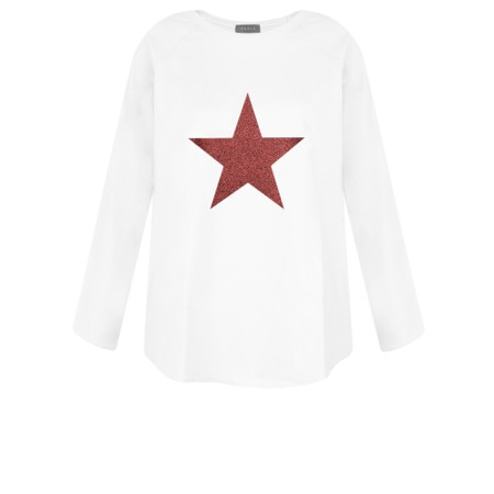 Chalk Gemini Exclusive ! Tasha Star Top - White