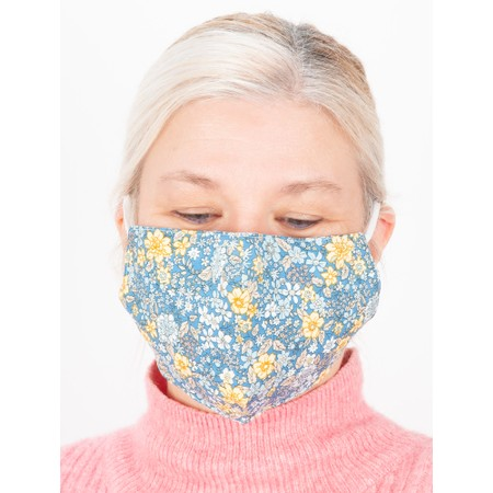 Jayley Floral Face Mask - Blue