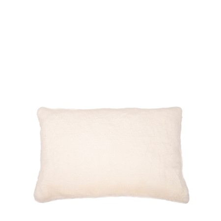 Chalk Home Doris Luxury Faux Fur Cushion - Off-White