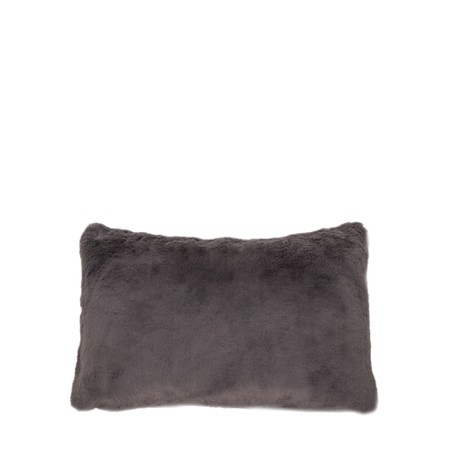 Chalk Doris Luxury Faux Fur Cushion - Black