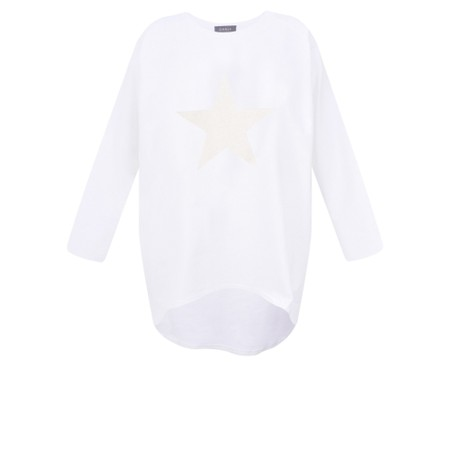 Chalk Robyn Star Top - White