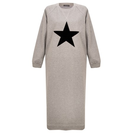 Chalk Steph Star Sweatshirt Dress - Grey