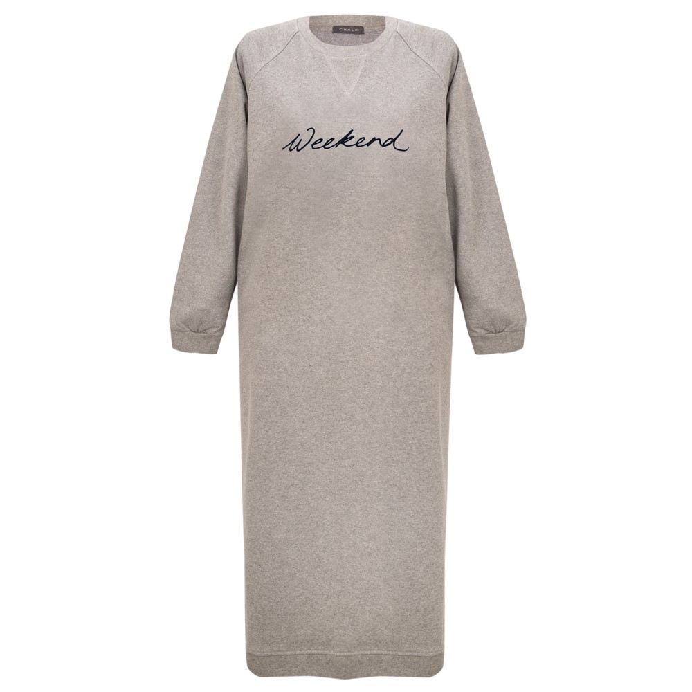 Chalk Steph Weekend Sweatshirt Dress Grey Marl / Black