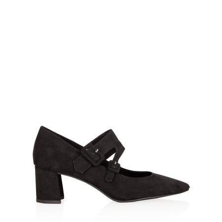 Marco Tozzi Baci Mary Jane Faux Suede Shoe - Black