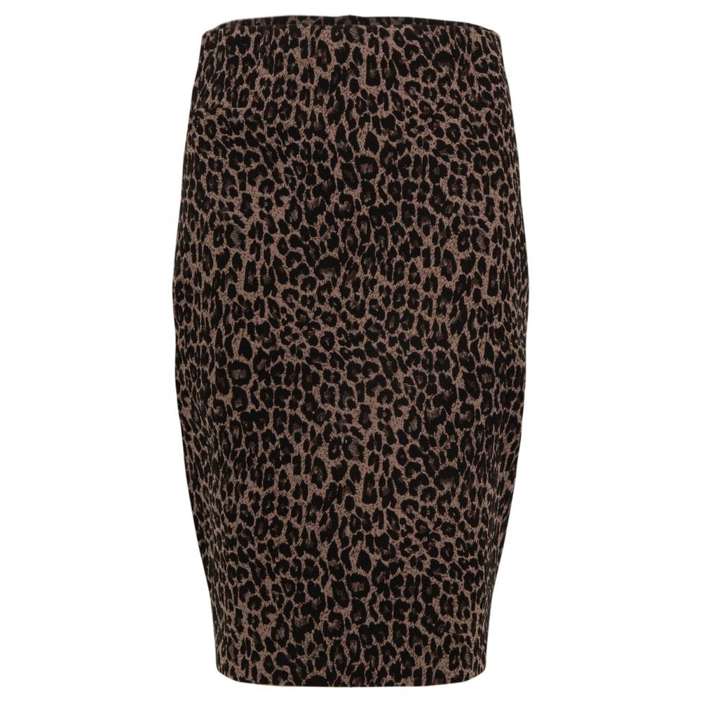 Foil Beeline Pencil Pullon Skirt Leo