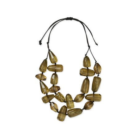 Masai Clothing Rose Necklace - Beige