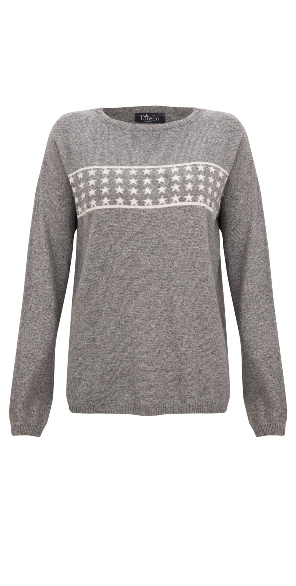 Lizzie Cashmere Blend Jumper with Stars main image