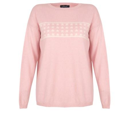 Luella Lizzie Cashmere Blend Jumper with Stars - Pink