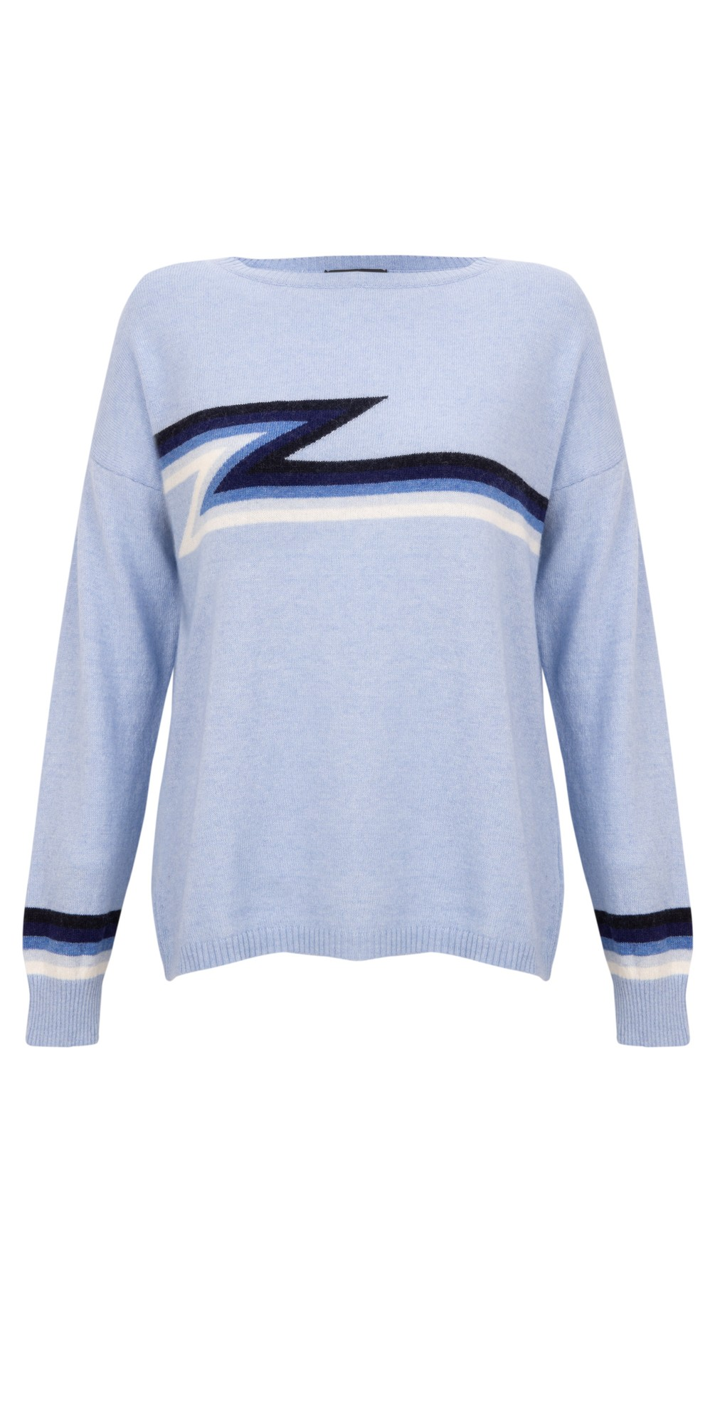 Ziggy Cashmere Blend Lightning Zig Zag Jumper  main image
