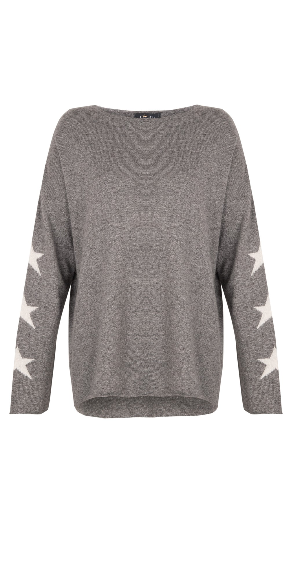 Georgia Cashmere Blend Jumper with Stars on Sleeve  main image