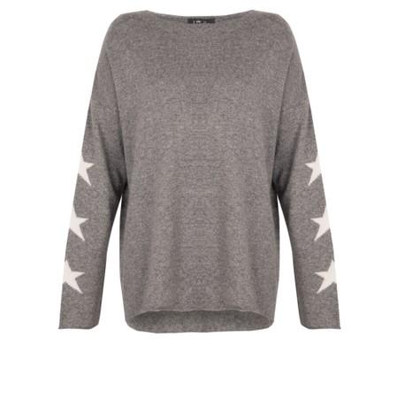 Luella Georgia Cashmere Blend Jumper with Stars on Sleeve  - Grey