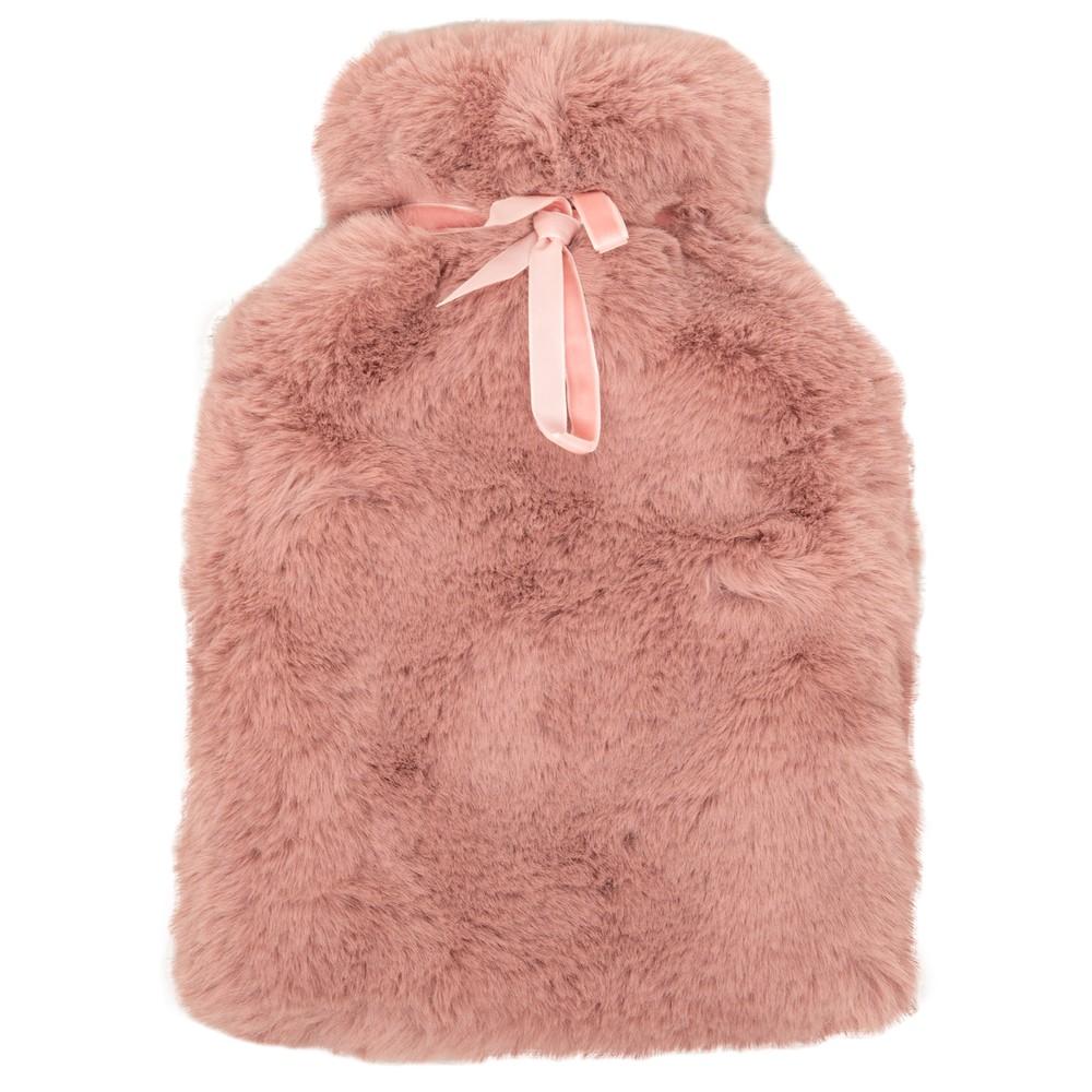 Chalk Home Teddy Hot Water Bottle Dusky Pink