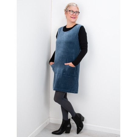 Amazing Woman  400 Velvet Pinafore - Green