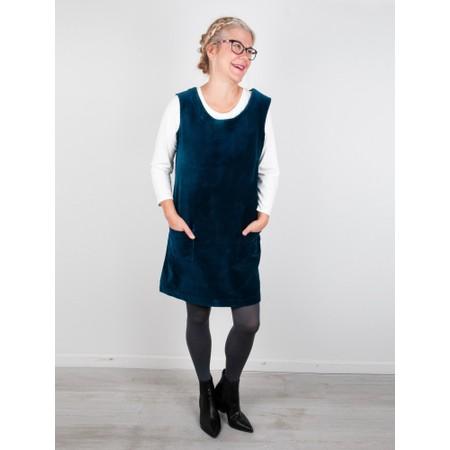 Amazing Woman  400 Velvet Pinafore - Blue