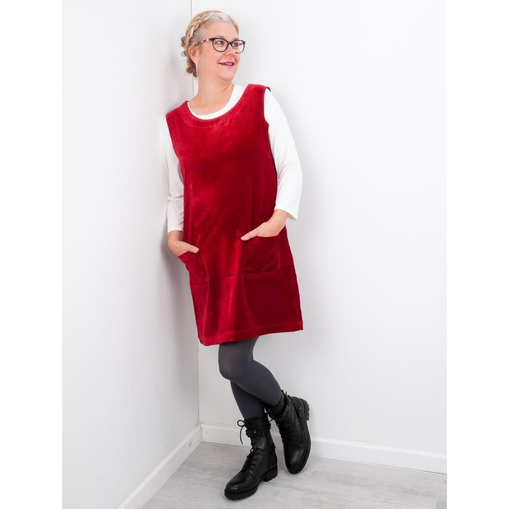 Amazing Woman  400 Velvet Pinafore Red