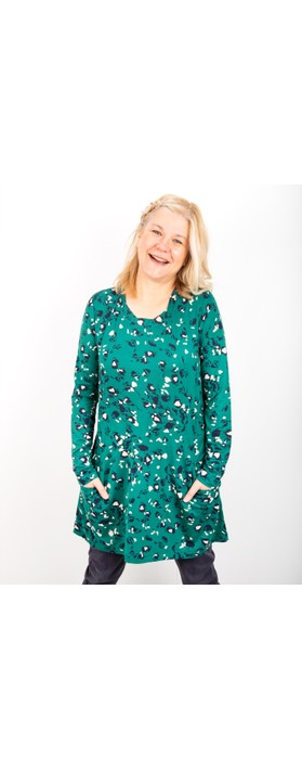 Adini Andrea Tunic with Pockets Emerald