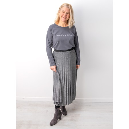 Chalk Tasha Sparkle and Shine Top - Grey