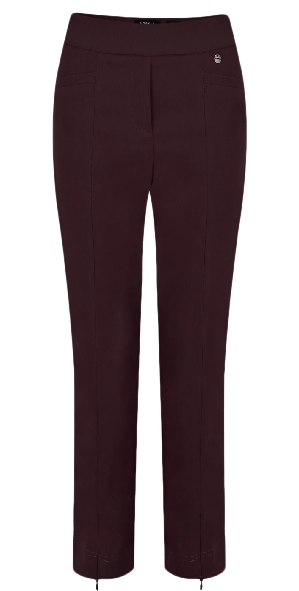 Nena 09 Aubergine Slimfit Fleece Lined Ankle Length Trouser main image