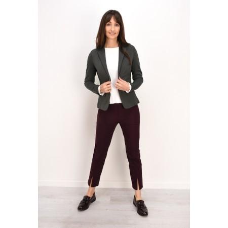 Robell  Nena 09 Aubergine Slimfit Fleece Lined Ankle Length Trouser - Purple