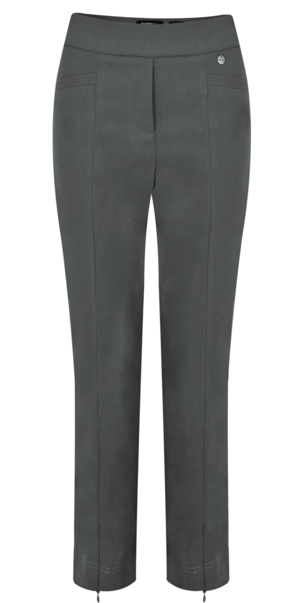 Nena 09 Grey Slimfit Fleece Lined Ankle Length Trouser main image