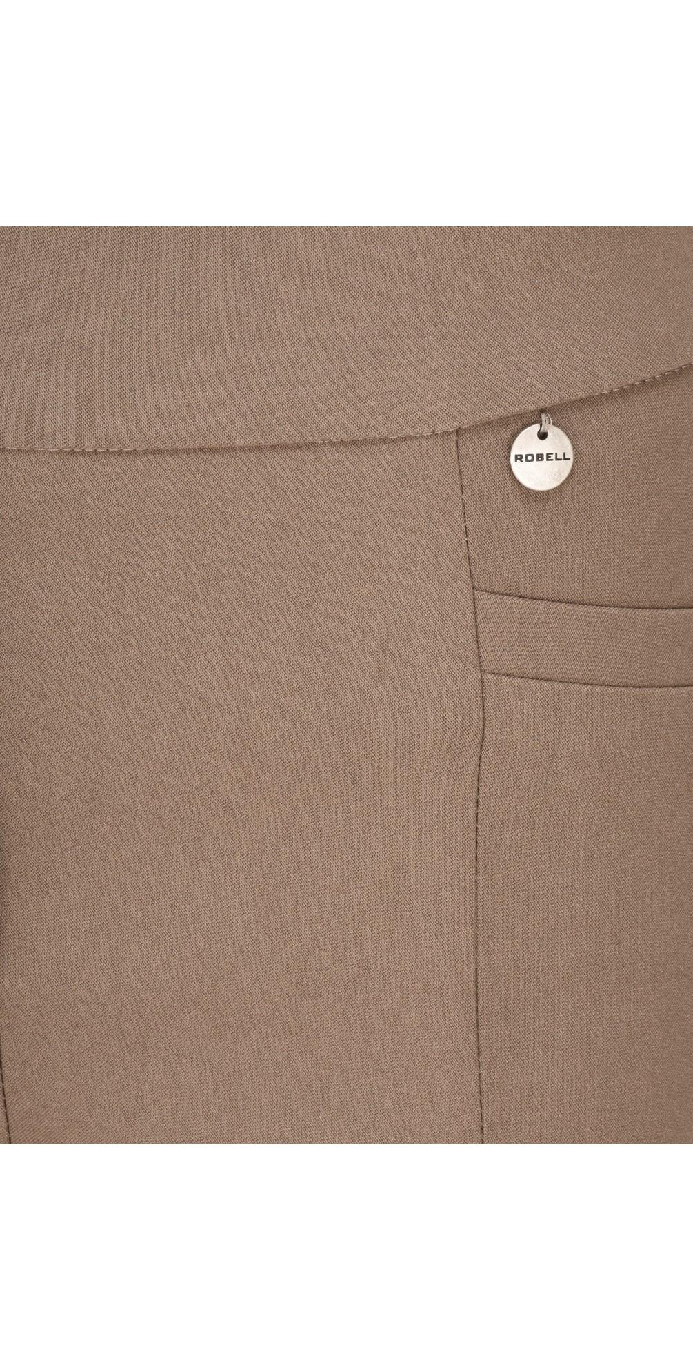 Nena 09 Almond Slimfit Fleece Lined Ankle Length Trouser main image