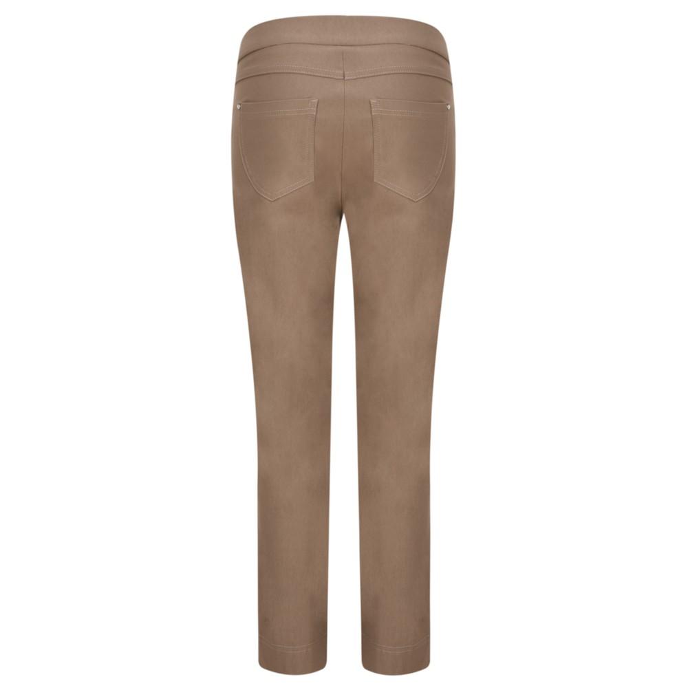 Robell Nena 09 Almond Slimfit Fleece Lined Ankle Length Trouser Almond 38