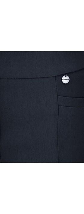 Robell Nena 09 Navy Slimfit Fleece Lined Ankle Length Trouser Navy 69