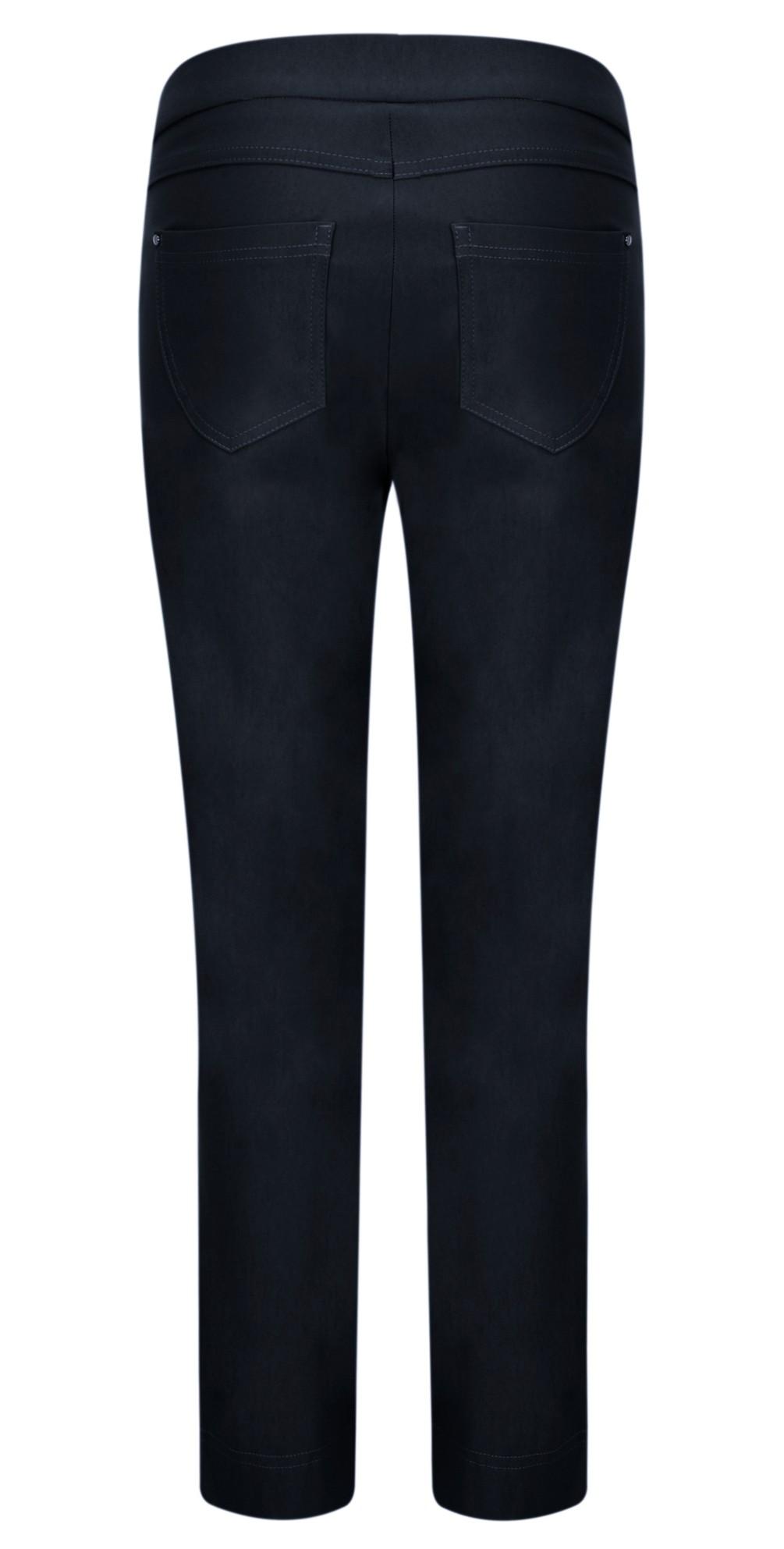 Nena 09 Navy Slimfit Fleece Lined Ankle Length Trouser main image