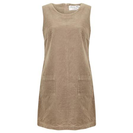 Amazing Woman  400 Cord Pinafore Dress - Beige