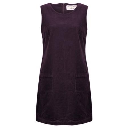 Amazing Woman  400 Cord Pinafore Dress - Purple