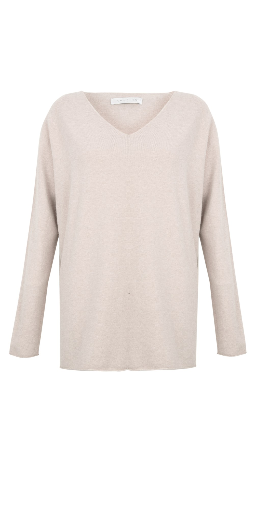 Cleo V Neck Lurex Trim Supersoft Fine Knit main image