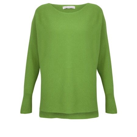 Amazing Woman  Celia Round Neck Ribbed Knit - Green