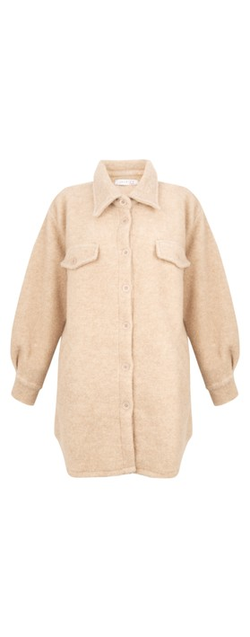 Amazing Woman Montreux Boiled Wool Shacket Beige