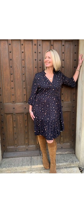 Luella Celeste Moon & Star Dress  Black