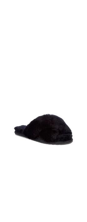 EMU Australia Mayberry Sheepskin Slider Slipper Black