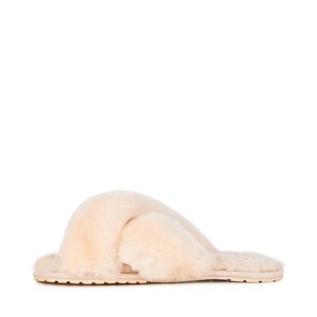 EMU Australia Mayberry Natural Sheepskin Slider Slipper - Beige
