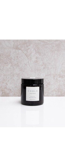 Chalk Home Spiced Orange Amber Glass Apothecary Small Candle Jar Spiced Orange