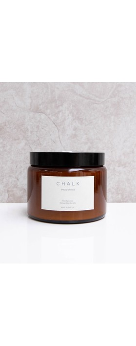 Chalk Home Amber Glass Apothocary Large Candle Jar 500ml Spiced Orange