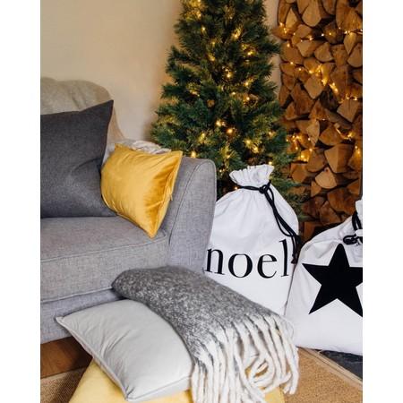 Chalk Home Christmas Santa Sack - White