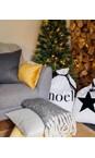 Chalk Home White / Red Glitter Star Christmas Santa Sack