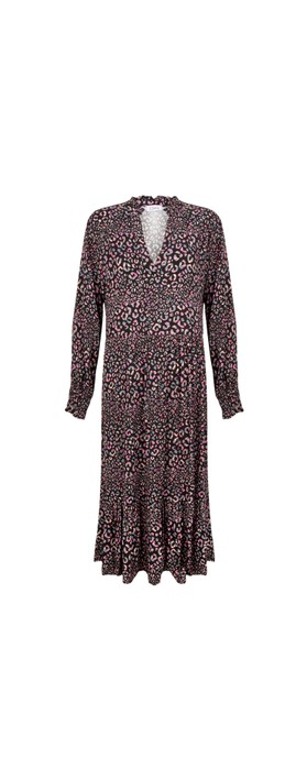 Luella Clementine Animal Print Dress Black