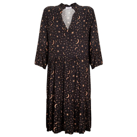 Luella Celeste Moon & Star Dress  - Black