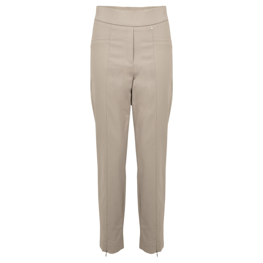 Robell Nena 09 Putty Slimfit Fleece Lined Ankle Length Trouser Putty 111