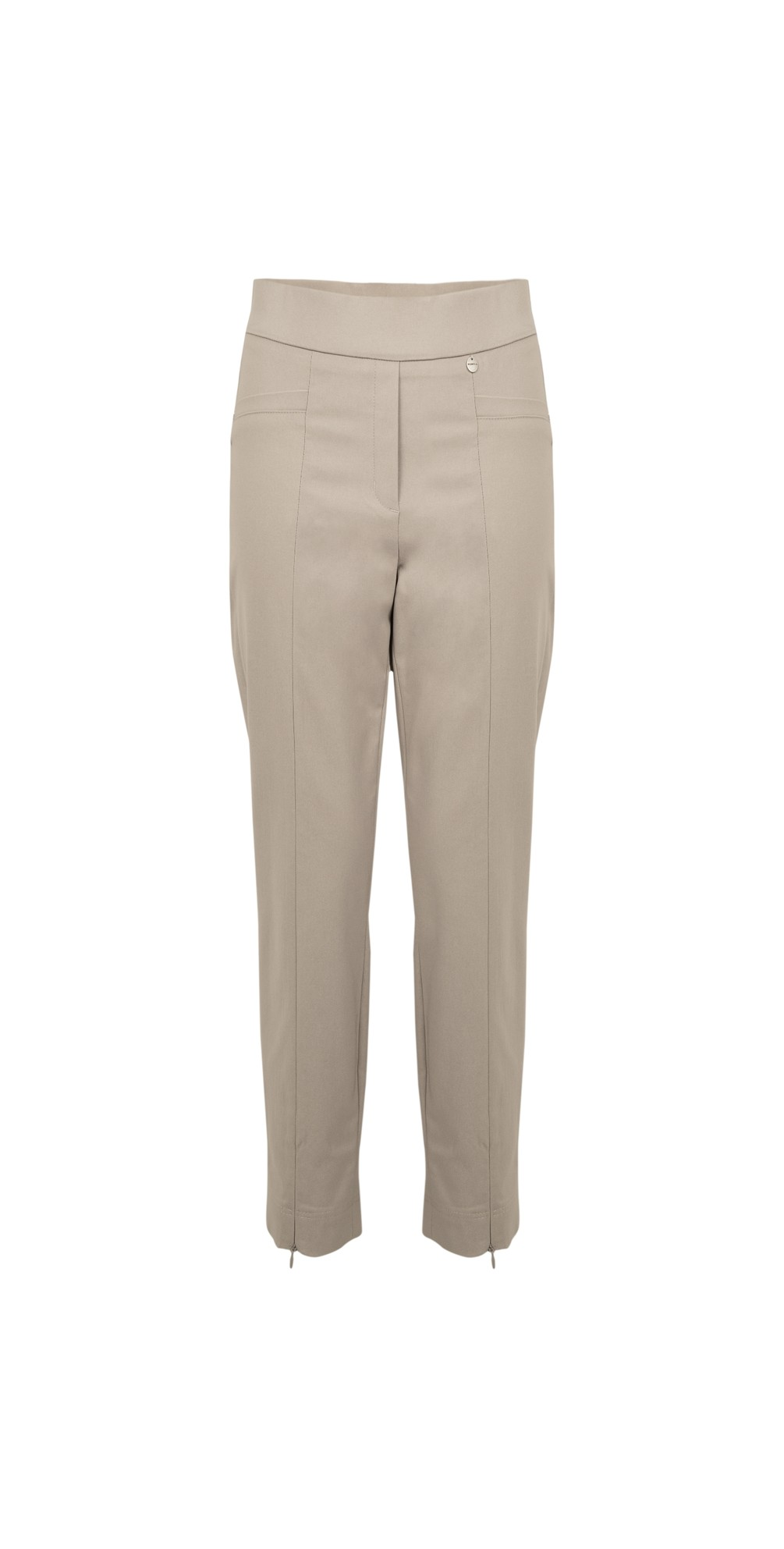 Nena 09 Putty Slimfit Fleece Lined Ankle Length Trouser main image