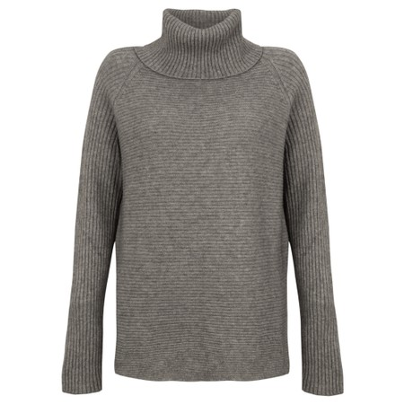 Amazing Woman Fliss Roll Neck Raglan Sleeve Ribbed Knit - Blue