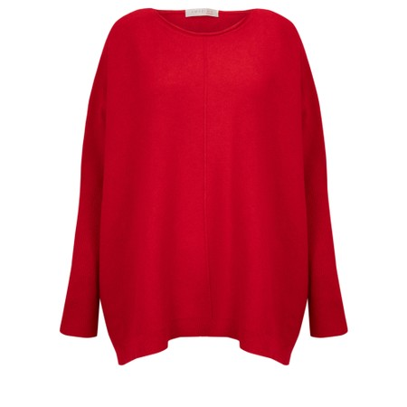 Amazing Woman  Faith Front Seam Oversized Knit - Red