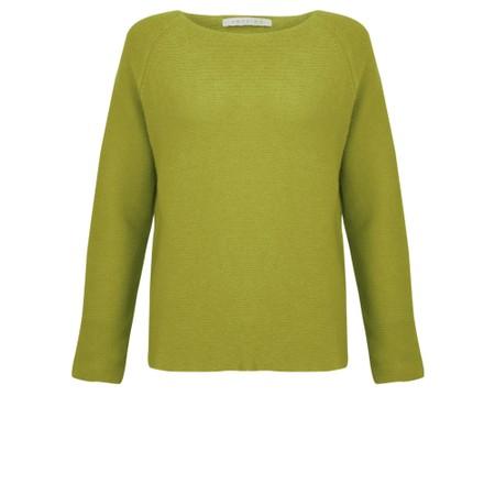 Amazing Woman  Fiona Round Neck Raglan Sleeve Rib Knit Jumper - Green