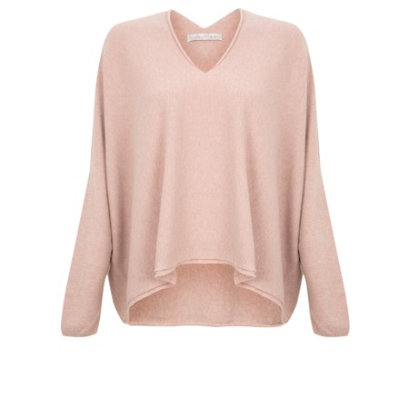 Amazing Woman  Clarrie V Neck Boxy Supersoft Fine Knit - Pink