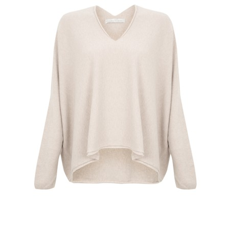 Amazing Woman Clarrie V Neck Boxy Supersoft Fine Knit - Off-White